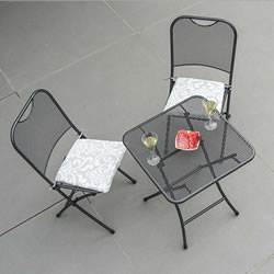 Small Image of Portofino 2 Seater Folding Bistro Set by Alexander Rose