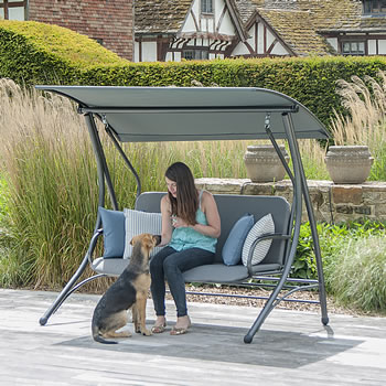 Image of Portofino Garden Swing Seat with Cushion from Alexander Rose