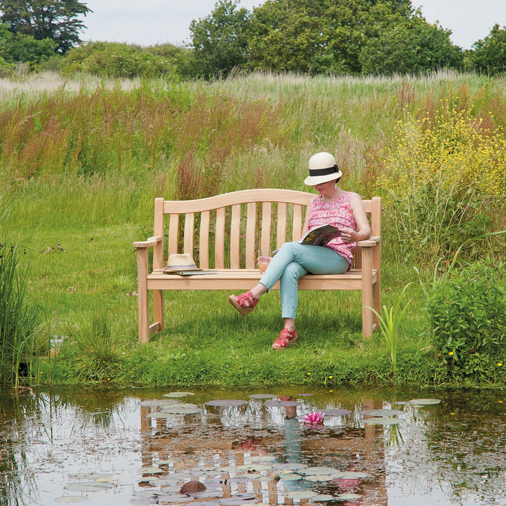 Miraculous Roble Turnberry 4Ft Fsc Garden Bench From Alexander Rose Pabps2019 Chair Design Images Pabps2019Com
