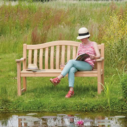 Small Image of Roble Turnberry 5ft FSC Garden Bench by Alexander Rose