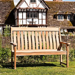 Small Image of Mahogany High Back 5ft FSC Garden Bench from Alexander Rose