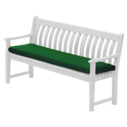 Small Image of Alexander Rose Polyester 5ft Garden Bench Cushion - Green