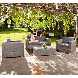 Small Image of Monte Carlo 4 Seater Lounge Furniture Set by Alexander Rose