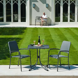 Small Image of Portofino 2 Seater Square Bistro Set by Alexander Rose