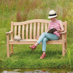 Small Image of Roble Turnberry 4ft FSC Garden Bench from Alexander Rose