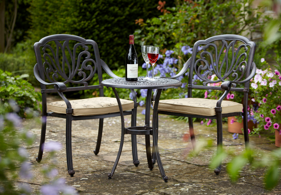 outdoor bistro set amalfi 2 seater cast aluminium garden bistro set uk 163 345 29215