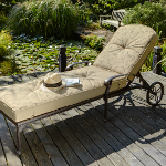 Hartman Amalfi Lounger in Bronze with Floral Cushion