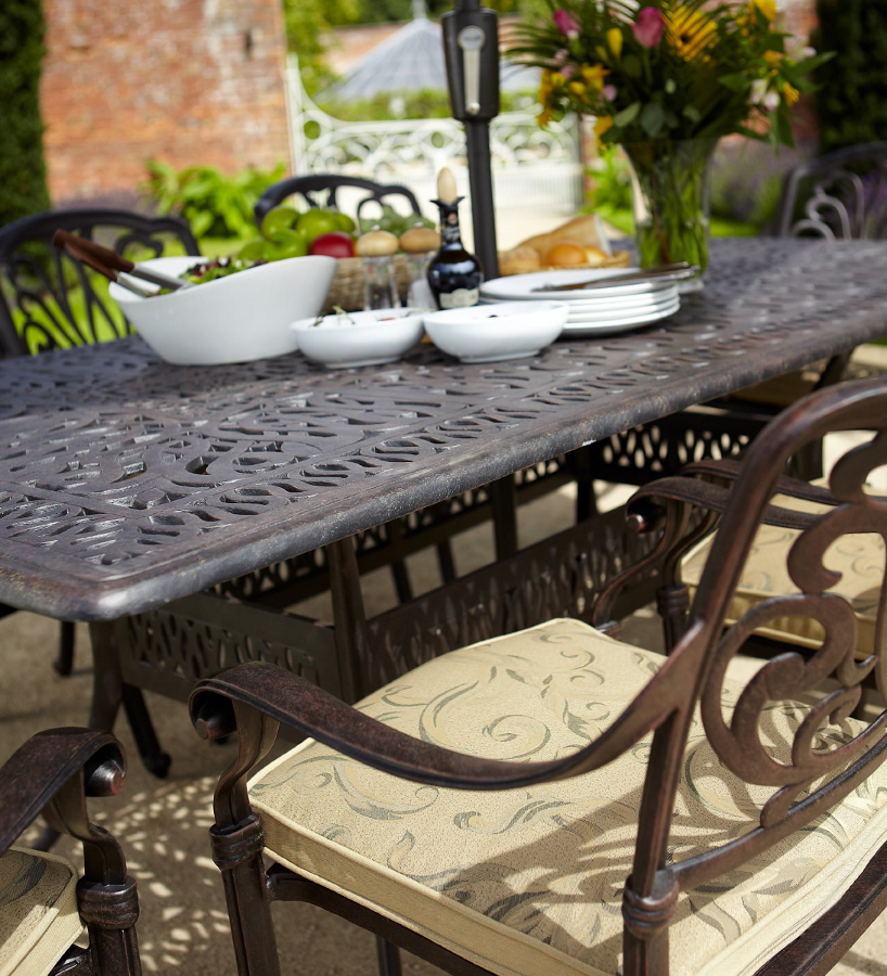 Amalfi Cast Aluminium 8 Seater Rectangular Garden Dining  : amalfi rectangular dining set chairs giant from www.garden4less.co.uk size 818 x 900 jpeg 735kB