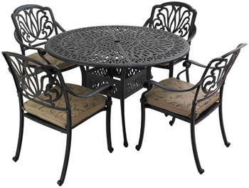 Aluminium Amalfi table set