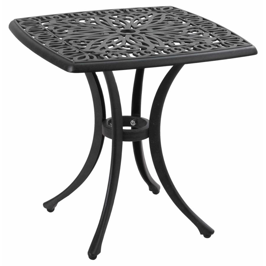 amalfi cast aluminium square garden side table 102. Black Bedroom Furniture Sets. Home Design Ideas