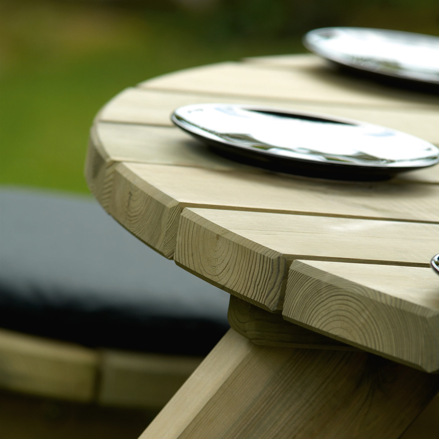 Extra image of Pine FSC Gleneagles 8 Seater Picnic Table by Alexander Rose