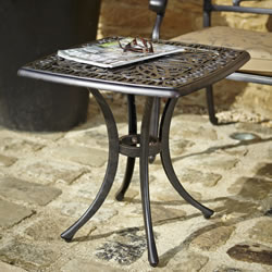 Small Image of Hartman Amalfi Square Side Table in Bronze