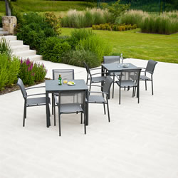 Small Image of Portofino Lite 4 Seater Garden Furniture Set by Alexander Rose