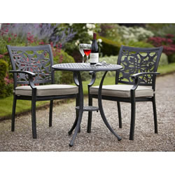 Small Image of Hartman Celtic Bistro Set in Bronze with Caramel Cushion