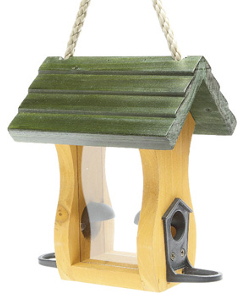 Image of Wooden Baby Bird Seed Feeder