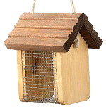 Small Image of Nut Nibbler Wooden Bird Feeder