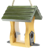 Small Image of Wooden Baby Bird Seed Feeder