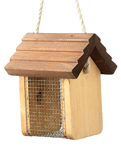 Image of Nut Nibbler Wooden Bird Feeder