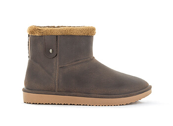 Image of Blackfox Cheyenne Sheepskin Style Ankle Boots - Brown Beige