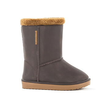 Image of Kids Blackfox Cheyenne Sheepskin Style Wellies - Brown Beige - Kids UK 8.5/9