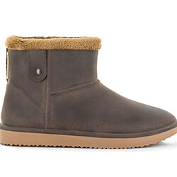 Small Image of Blackfox Cheyenne Sheepskin Style Ankle Boots - Brown Beige