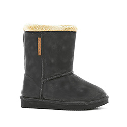 Small Image of Kids Blackfox Cheyenne Sheepskin Style Wellies - Black - Kids UK 13/1