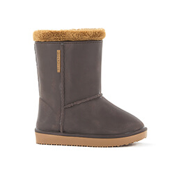 Small Image of Kids Blackfox Cheyenne Sheepskin Style Wellies - Brown Beige - Kids UK 8.5/9