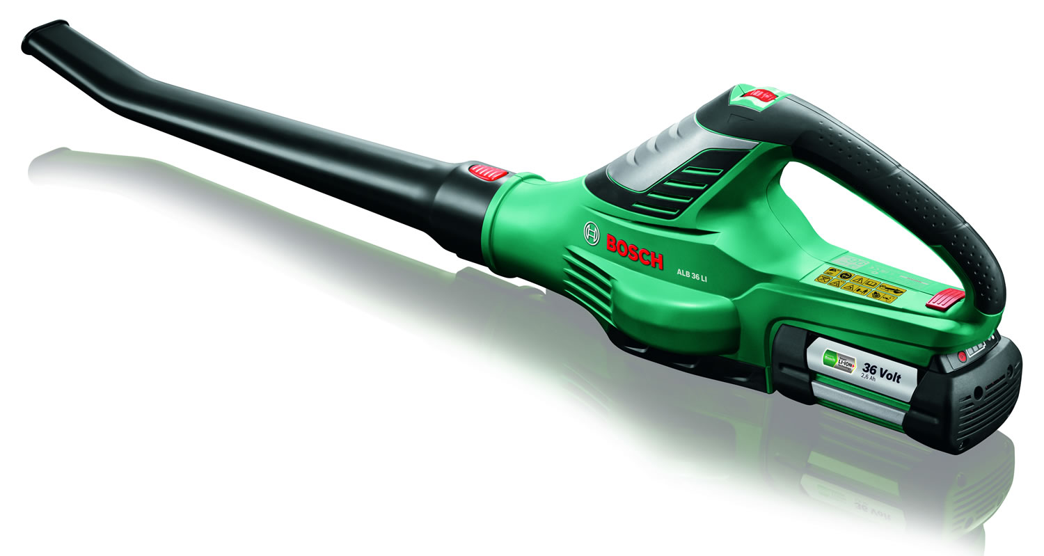 bosch cordless leaf blower alb 36 li garden4less uk shop. Black Bedroom Furniture Sets. Home Design Ideas