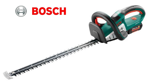 bosch cordless hedge trimmer ahs 54 20 li with free accesories garden4less uk shop. Black Bedroom Furniture Sets. Home Design Ideas