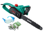 Small Image of Bosch Electric Chainsaw 40cm With Gloves And Goggles - AKE-40