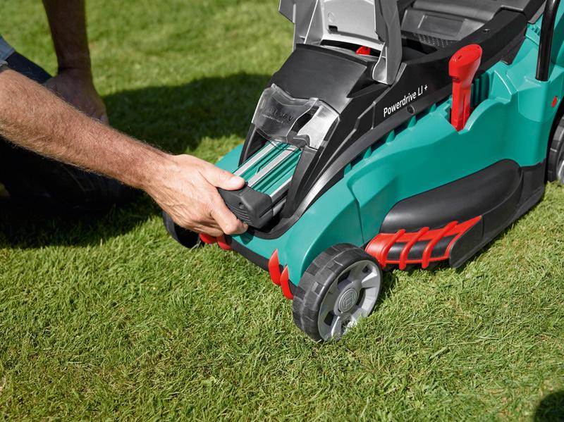 Bosch Cordless Lawn Mower Rotak 43li Ergoflex With Free