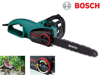 Image of Bosch Chainsaw - AKE 40-19S - With Free Replacement Chain, Protective Gloves and Oil