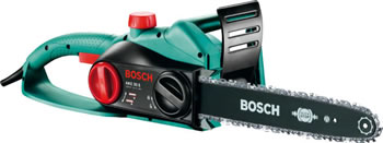 Image of Bosch Electric Chainsaw - AKE 35S - With Free Replacement Chain, Protective Gloves and Oil