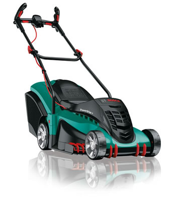 Image of Bosch Electric Lawn Mower - Rotak 43 Ergoflex with free extra blade