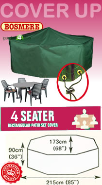 Image of Rectangular Furniture Cover (4 Seater Set) - Bosmere C525