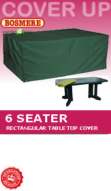 Image of Rectangular Table Cover (6 Seater Table) - Bosmere C555