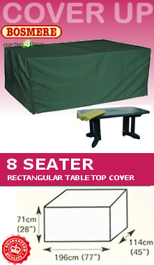 Image of Rectangular Table Cover (8 Seater Table) - Bosmere C560