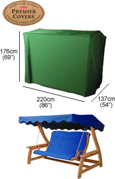 Image of 3 Seater Swing Seat Cover - P012
