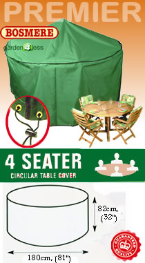 Image of Circular Furniture Cover (4 Seater Set) - Bosmere P015