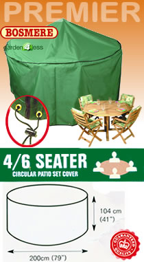 Image of Circular Furniture Cover (4 to 6 Seater Set) - Bosmere P020