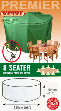 Image of Circular Furniture Cover (8 Seater Set) - Bosmere P025