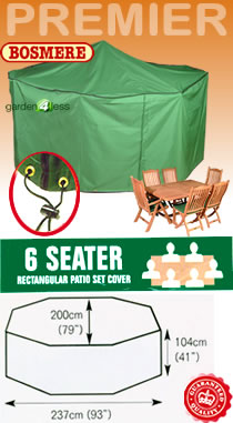 Image of Rectangular Furniture Cover (6 Seater Set) - Bosmere P030
