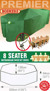 Image of Rectangular Furniture Cover (8 Seater Set) - Bosmere P035