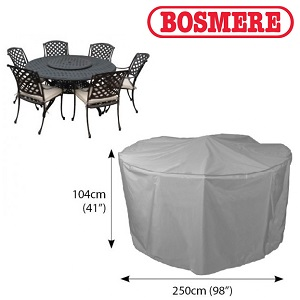 Image of Bosmere Thunder Grey 6 to 8 Seater Circular Furniture Cover - U523