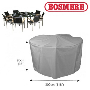 Image of Bosmere Thunder Grey 8 Seater Circular Furniture Cover - U524