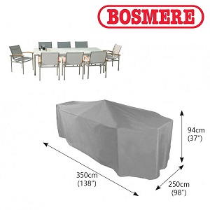 Image of Bosmere Thunder Grey Rectangular 8 Seater Furniture Cover - U538