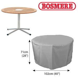 Image of Bosmere Thunder Grey Circular Table Cover - U540