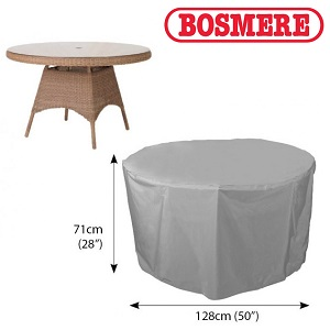 Image of Bosmere Thunder Grey Circular Table Cover - U545