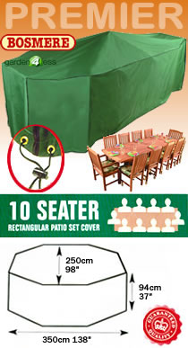 Image of Rectangular Furniture Cover (10 Seater Set) - Bosmere P037