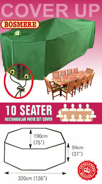 Image of Rectangular Furniture Set Cover (8-10 Seater) - Bosmere C537
